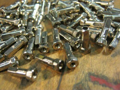 HEX-HEAD NIPPLES SAPIM /& DT Brass Silver /& Black 2.0mm 14G /& 1.8mm 15G Bulk New