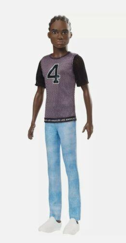 Ken African American Doll LA Jersey w// Cornrow Hair Details about  /Barbie Fashionistas #130