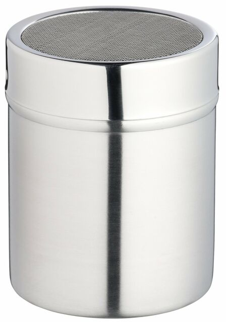 Kitchen Craft Stainless Steel Shaker & Lid Fine Mesh- gift boxed