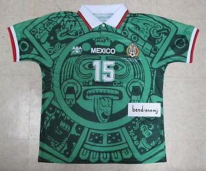 uk availability 46b55 201d4 Details about Javier Hernandez 98 World Cup Mexico Football Soccer Home  Green Jersey Shirt