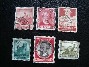 Germany-Stamp-Yvert-Tellier-N-462-501-511-518-563-610-Cancelled-A47