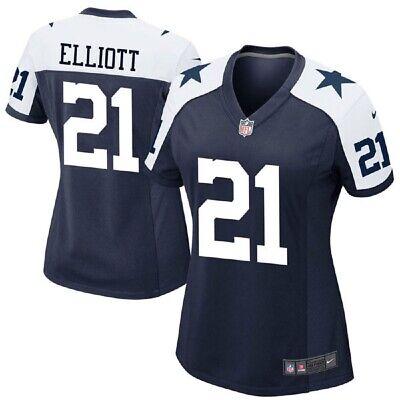 the latest 52c8e c6f87 Dallas Cowboys Womens Ezekiel Elliott #21 Nike Game Throwback Jersey | eBay