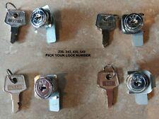Apg Vasario Lock Set Kit Fits Square Revel Hp Ncr Micros Par Cash Drawers