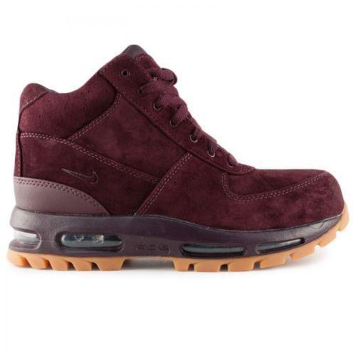 NYHET 599474 600 Nike Air Max Goadome 2013 Boots !!Deep Burgundy // Gum