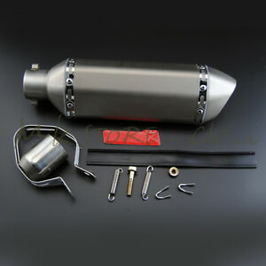 51MM-Exhaust-Muffler-With-Removable-DB-Killer-For-Dirt-Street-Bike-Motorcycle