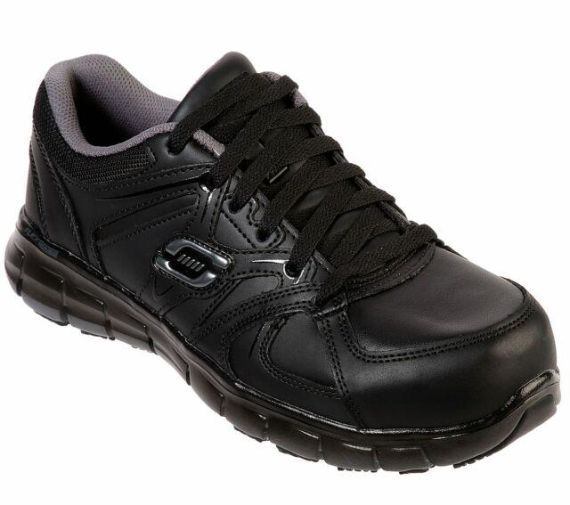 skechers slip resistant memory foam shoes
