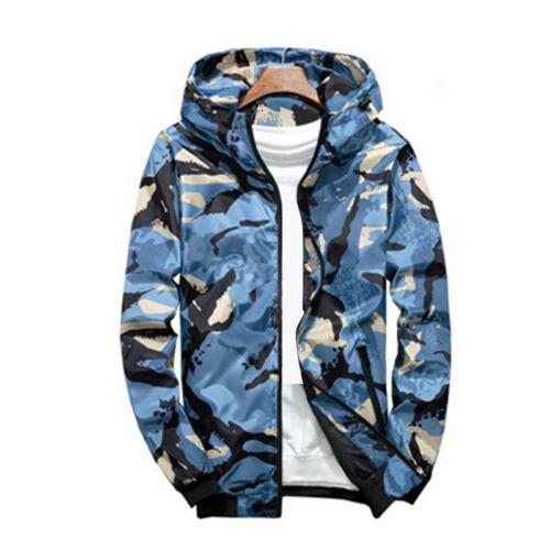 Fashion Men Camouflage  Jacket Bomber Tactical Windbreaker Hooded Jacket