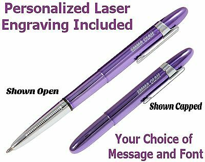 Fisher Personalized #400PPCL//P Purple Passion Bullet Pen with Chrome Clip