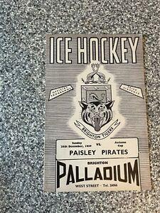 Palladium Brighton - Ice Hockey Programme 20/12/1959