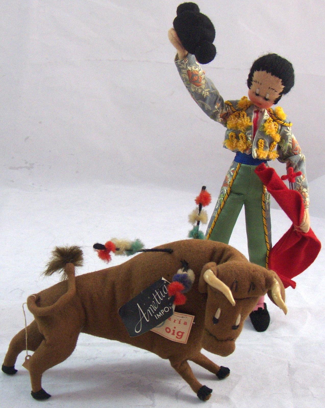 Vintage Paño Matador & Bull Muñecas Maria Roig Amettia Imports Klumpe