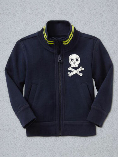 NEW GAP SKULL PATCH TRACK JACKET SIZE 2T 3T 4T 5T