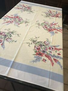 Vintage-Styled-in-Paris-Red-Floral-on-Light-yellow-Decor-Tablecloth-51-x-61