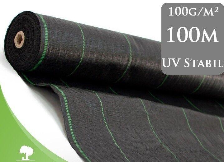 100m² Bodengewebe Gartenflies Unkrautvlies UV  100g m²  2,10m Breit