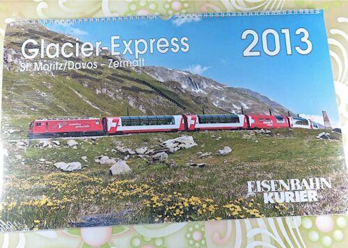 EISENBAHN KURIER - Wand-Kalender 2013 - Glacier Express - #A10375