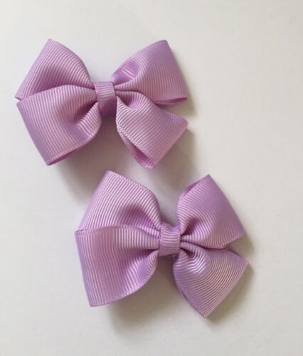 Pair Of Purple Big Bow Hair Clips//aligator Clip//schools Uniform//girls