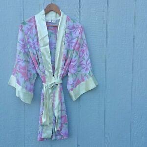 2df88228a3b43 Details about Victoria's Secret Women's Robe One Size Satin Floral
