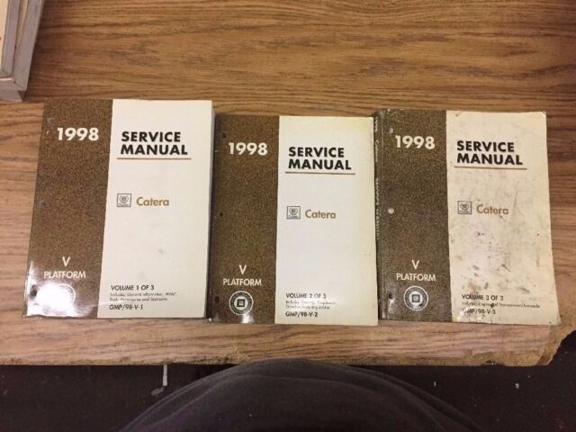 1998 Cadillac Catera Preliminary Service Manuals Volume 1 2 3