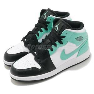 Details about Nike Air Jordan 1 Mid GS AJ1 Island Green Igloo Junior Kids Casual 554725-132