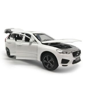 1-32-XC60-2019-SUV-Die-Cast-Modellauto-Spielzeug-Model-Sammlung-Weiss-Ton-Licht