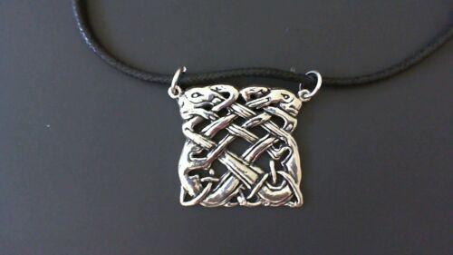 New Made in USA Celtic Irish Ireland Book of Kells Pewter Pendant Necklace
