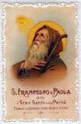 SANTINO HOLY CARD MERLETTATO CANIVET SAN FRANCESCO DI PAOLA