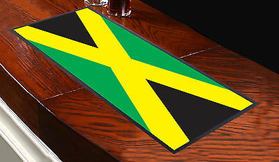 JAMAICAN FLAG JAMAICA BAR RUNNER IDEAL FOR HOME COCKTAIL PARTY PUB MAT BEER