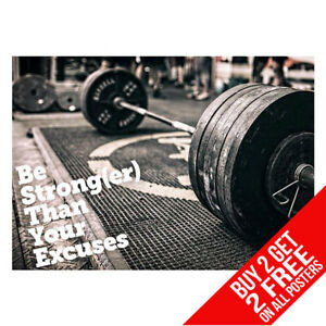 Details about WEIGHTLIFTING GYM MOTIVATIONAL WEIGHTS POSTER A4 A3 - BUY 2  GET ANY 2 FREE