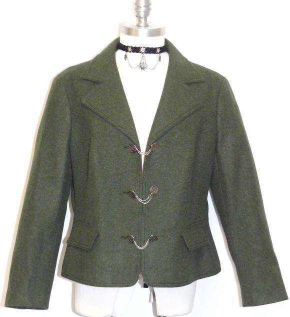 verde   Loden Lana Mujer Vestido alemán de caza a caballo Dirndl Traje Chaqueta 46 12 M  mas barato
