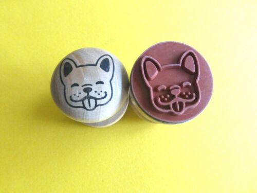 Motivstempel Hund Bulldogge Stempel Stamping 30mm Kartengestaltung Basteln