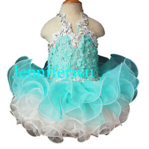 Infant/toddler<wbr/>/kids/baby Pageant/prom/f<wbr/>ormal flower lace Dress