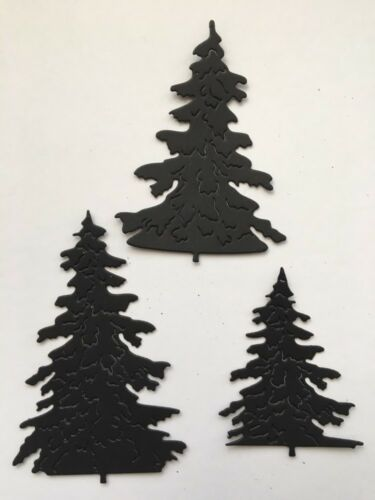 12 X Sets Of Trees Die Cuts 3 Sizes Christmas//Card Toppers Etc