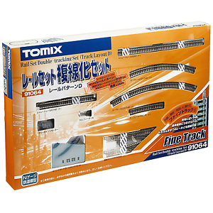 Tomix-91064-Rail-Set-Double-Tracking-Set-Track-Layout-D-N