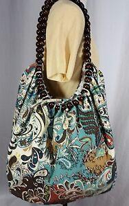 Image Is Loading Handbag Tote Bag Parsley Multicolor Wooden Bits Strips