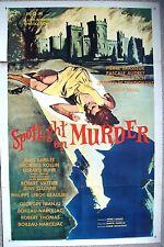 """1sheet US Origin movie poster SPOTLIGHT ON MURDER G. Franju  27x41"""" Film 1961 VF"""