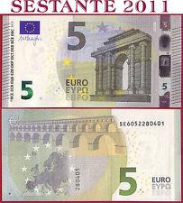 "(com) EUROPEAN UNION - ITALY 5 EURO 2013 Sign DRAGHI  ""SE""  S006F2 - P 20s - UNC"