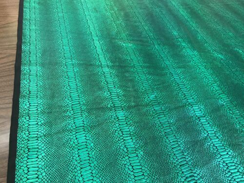 Iridescent Snake Skin Print On A Nylon 2 Way Stretch Spandex Fabric BY The Yard.