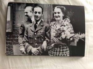 M17b8-6x4-Inches-reprint-Photograph-ww2-Wedding-Couple-bride-a082-checked-dress