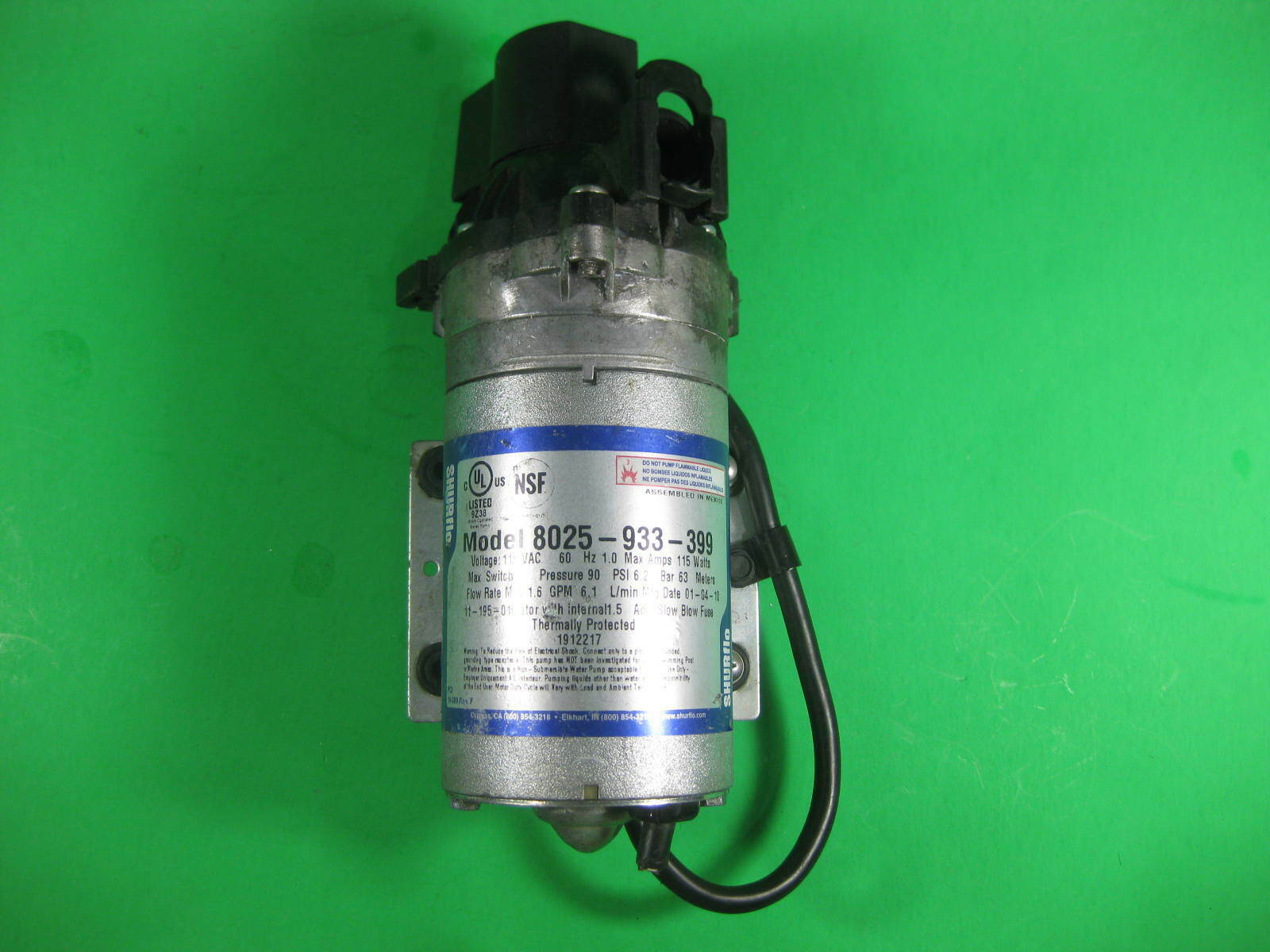 SHURFLO Booster Pump Model 8025-933-399 1ph 115vac