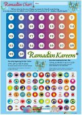 Ramadan Chart Eid Countdown Muslim Advent Calendar Sticker Pack Stickers