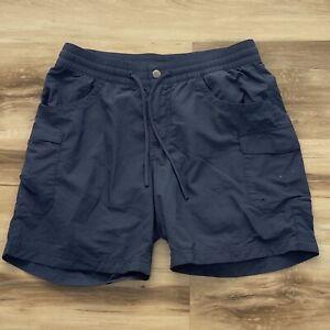 Columbia-Womens-Shorts-Blue-Nylon-Hiking-Outdoors-Cargo-Mesh-Pockets-Size-S