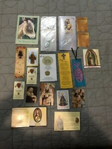 HOLY-CARD-LOT-CATHOLIC-PRAYER-CARDS-BOOKLETS-MEDALLIONS-BOOKMARKS-LOT-4