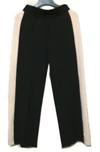 Bershka Black Trousers With Peach Trim