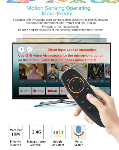 IR G10 2.4G Air Mouse Voice Remote Control With Microphone Learning Air Mouse