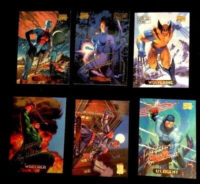 1994 Marvel Masterpieces Gold Foil Signature Series Cards 2 9 82 87 90 94 139