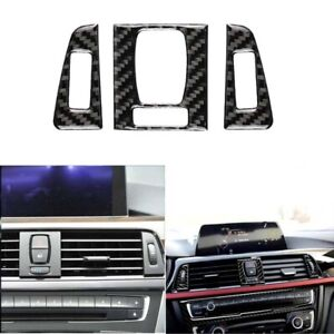 New Carbon Fiber Air Conditioner Outlet Vent Cover Trim For BMW F30 F34 3 Series