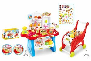 Childrens-41-Piece-2-1-Role-Play-Sweet-Shop-Cash-Till-amp-Trolley-Toy-Set-668-42