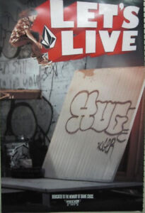 VOLCOM-skateboard-2007-SHANE-CROSS-LETS-LIVE-promo-poster-Flawless-NEW-old-stock