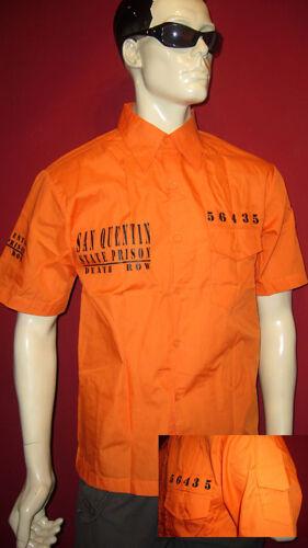 ORANGE SHIRT San Quentin prigione Camicia M L XL 2xl 3xl State Prison BRAKE Death