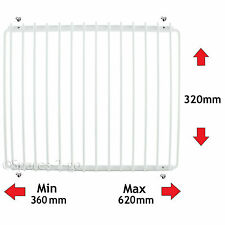 Adjustable Fridge Shelf White Plastic Coated Freezer Rack - Universal Extendable