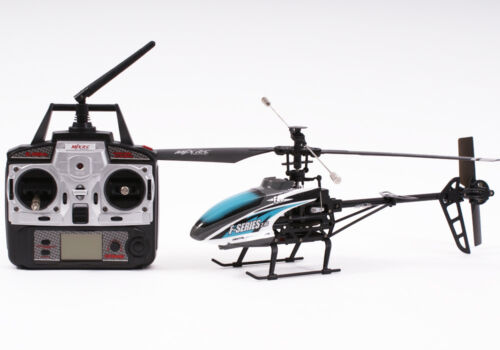 Complet prêt à voler MJX F46 RC hélicoptère 4 canaux débutant-Bleu